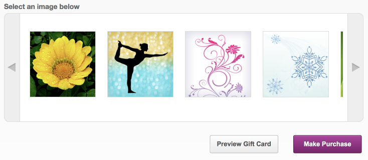Yoga Gift Certificate image choices